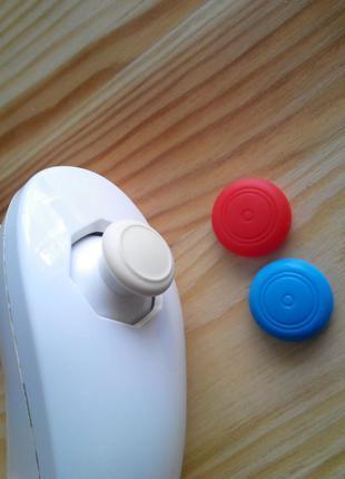 Накладки на стики Nintendo Wii нунчак джойстик Красно-синие Wii U