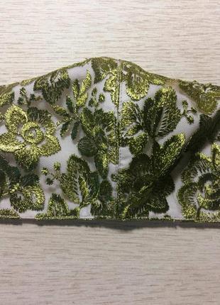 Защитная маска ( зеленое кружево)