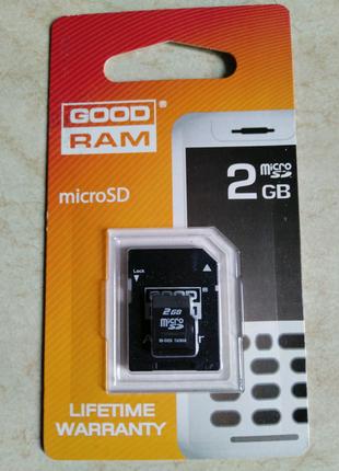 Карты памяти microSD 2 gb