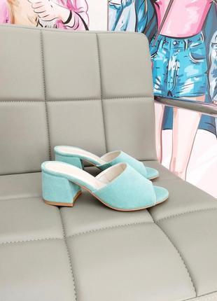 Босоножки шлёпанцы на удобном каблуке