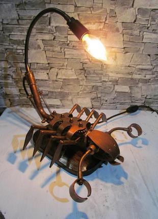 """Светильник в стиле стимпанк """"Скорпион"""" (ручная работа)"""