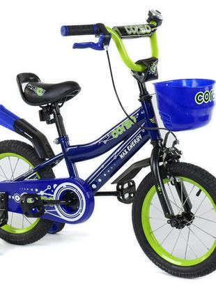 Велосипед CORSO двухколесный с дополнительными колесами