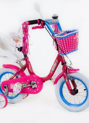 Велосипед CORSO двухколесный с ручным тормозом Розовый