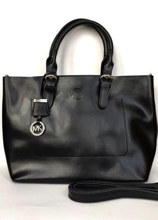 """Женская кожаная сумка """"emptiness"""" черная"""