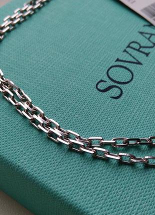 Серебряная цепочка цепь якорное плетение 60 см серебро 925 пробы