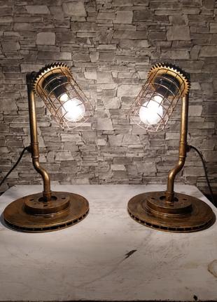 Настольные лампы (светильники) лофт ручной работы