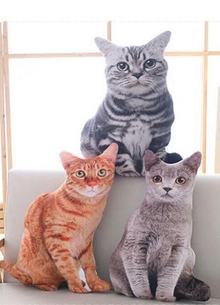 Игрушка декоративная подушка кошка,  44-46 см, 2 вида,  новые