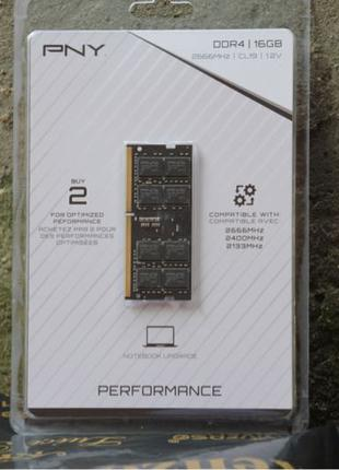 оперативная память PNY 16GB DDR4 2666MHz Notebook Memory