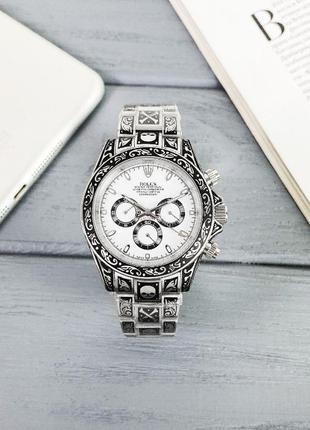 Люксовые Rolex Daytona Skull. Наручные Мужские-Женские часы Ро...