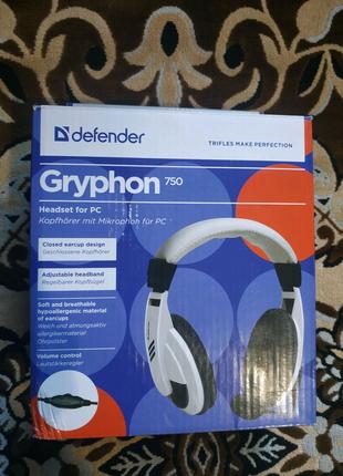 Наушники Defender  Gryphon-750 c Микрофоном.
