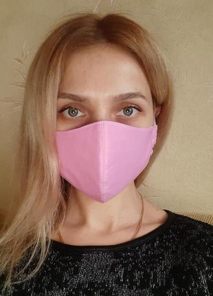 Маска защитная трёхслойная многоразовая для лица