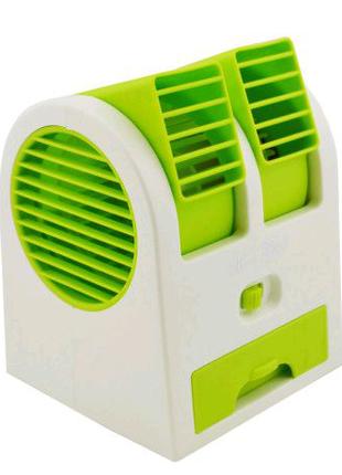 Мини-кондиционер вентилятор Mini Fan UKC HB-168 зеленый