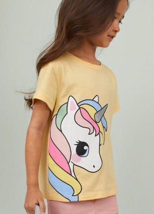 Супер футболочка h&m ❤️ единорог яркая девочкам 4-6,6-8 и 8-10...