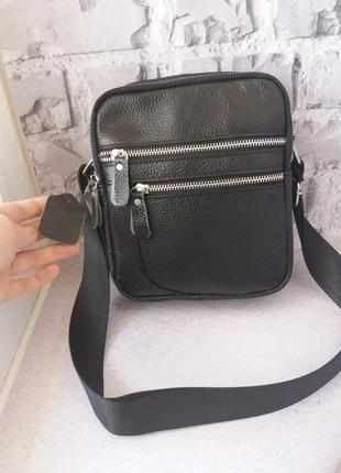 Шкірчна чоловіча сумочка мужская кожаная сумка.