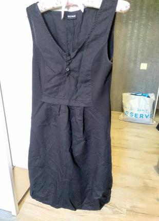 Льняное платье очень интересного кроя