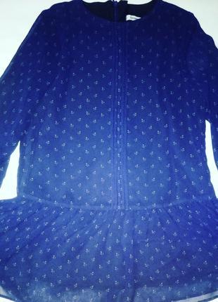 Новая нарядная шифоновая блузка для девочки