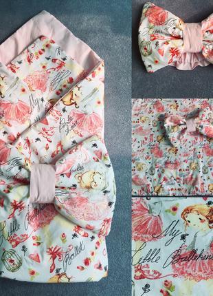 Конверт одеяло на выписку с роддома