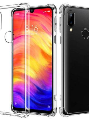 Прозрачный Чехол Бампер Xiaomi Redmi Note 7