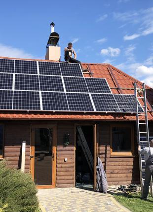 Сонячна електростанція / зелений тариф / батареї (панелі) / інвер
