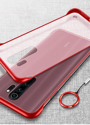 Бампер Xiaomi Redmi Note 8 чехол силиконовый красный