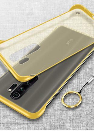 Бампер Xiaomi Redmi Note 8 чехол силиконовый желтый