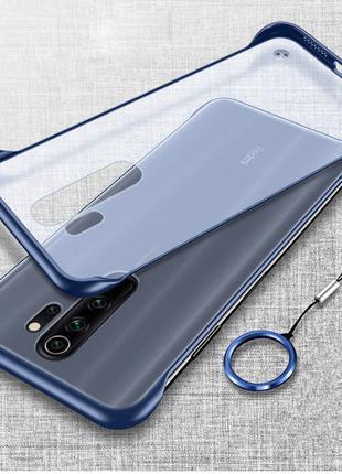 Бампер Xiaomi Redmi Note 8 чехол силиконовый синий