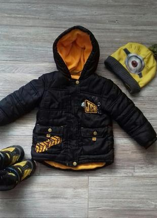Куртка детская демисезон с бульдозером jcb