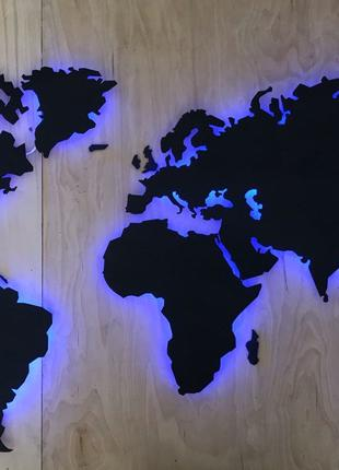 Карта Мира с RGB подсветкой