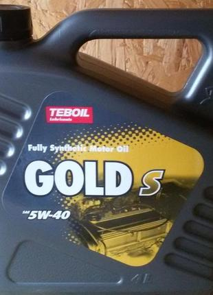 Масло моторное TEBOIL Gold S 5W40 (4л)