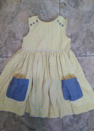 Платье девочке 3-4 года