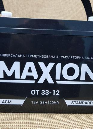 Промисловий акумулятор Maxion OT 33-12 AGM L+ 12V 33Ah