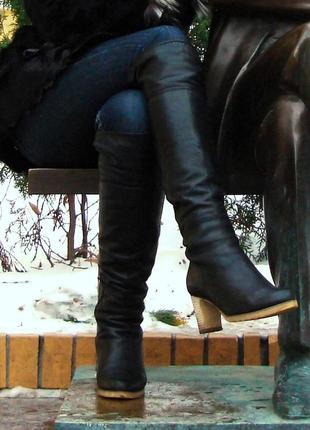 Кожаные зимние сапоги 38 р(25 см)