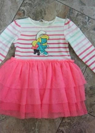 Нарядное платье девочке 2-3 года