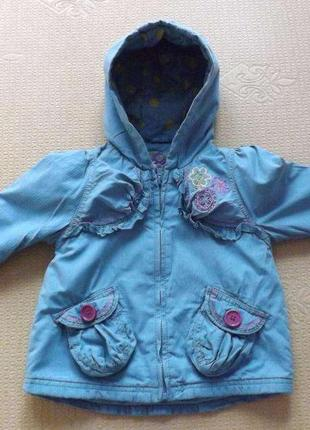 Куртка  весна для девочки next, 1-2 года