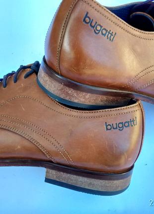 Кожаные туфли( bugatti) представительского класса 44 размера