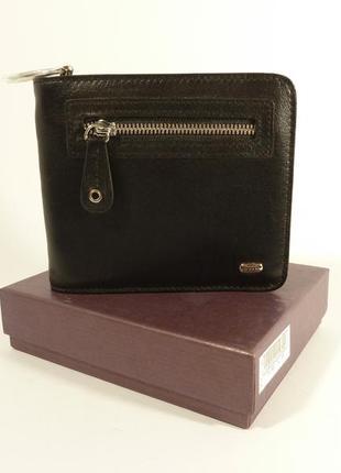 Кошелек мужской кожаный, портмоне petek 1765 на молнии