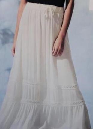 Летняя,белая юбка