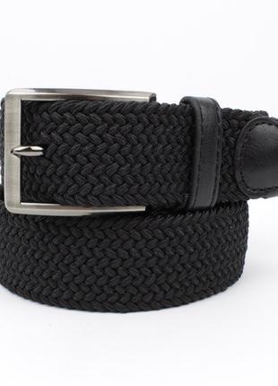Плетеный ремень резинка alon 4900-101 черный, ширина 35 мм