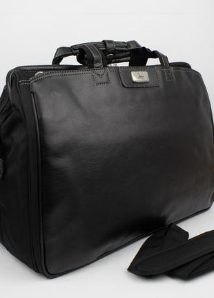 Дорожная сумка, саквояж refiand 88721 черный гладкий