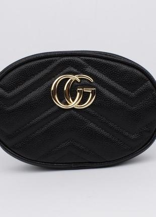 Клатч на цепочке, сумочка на пояс  20875-1 черная