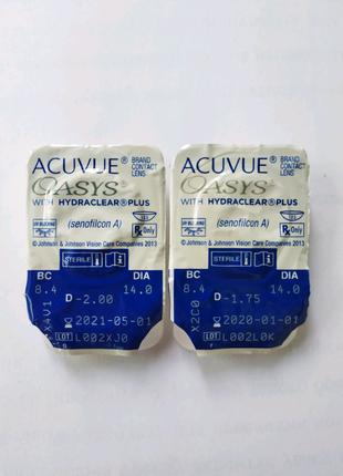 Линзы Acuvue Oasys -2.00 и -1.75