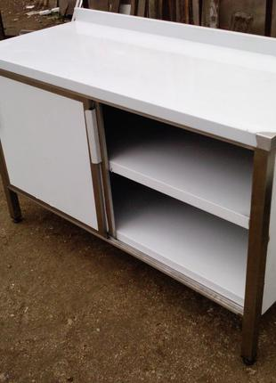 Стол шкафной из нержавеющей стали