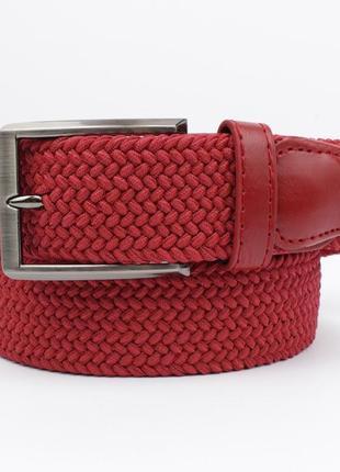 Плетеный ремень резинка alon 4900-109 красный, ширина 35 мм
