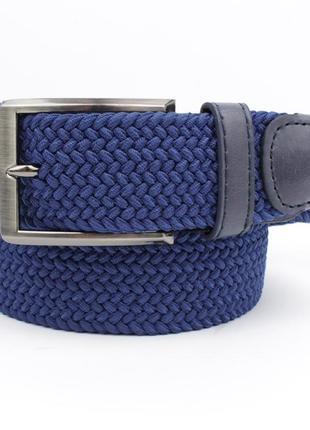 Плетеный ремень резинка alon 4900-108 синий, ширина 35 мм