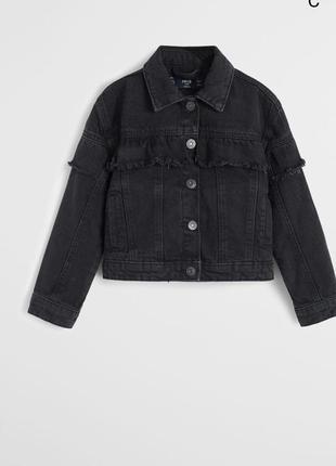 Джинсовая куртка mango на 3-4года