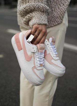 Кроссовки nike air force shadow white pink