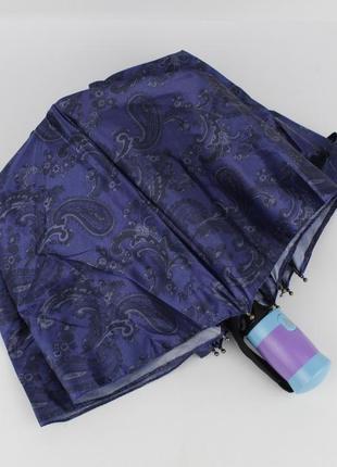 Женский складной зонт полуавтомат mario 949-1 синий, восточные...