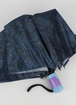 Женский складной зонт полуавтомат mario 949-3 синий, восточные...
