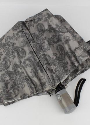 Женский складной зонт полуавтомат mario 949-4 серый, восточные...