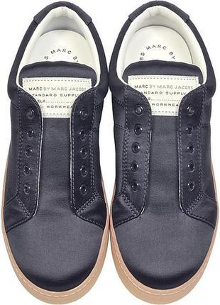 Стильные туфли слипоны сатиновые сникеры mark by marc jacobs